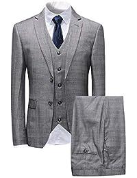 Sliktaa Haut de Costume Homme 3 Pièces Classique Formel Smoking de Mariage  Business et Bal Veste d903df4abd0d