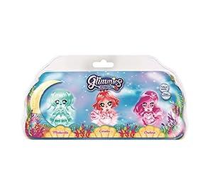 Glimmies Aquaria - 3 Muñecas Glimmies con Luz (Giochi Preziosi GLA02010)