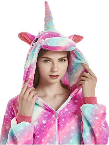 hsene Onesies für Frauen Einhorn Pyjamas Männer Teen Girl Halloween Kostüme -XL ()