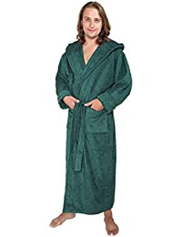 """Bademantel """"Hood'n Full"""" für Damen und Herren, 100% Baumwolle, extralang, mit zweilagiger Kapuze"""