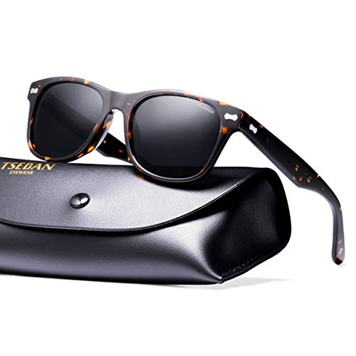 ca24e177ac TSEBAN Retro Polarizzate Occhiali da Sole Donna e Uomo UV400 Protezione  Ideali per Guidare
