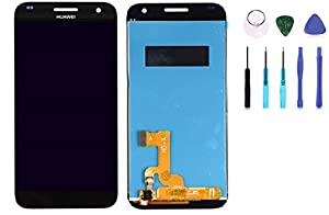 Original Huawei Ascend G7 Display LCD Touchscreen Digitizer in Schwarz mit Werkzeug