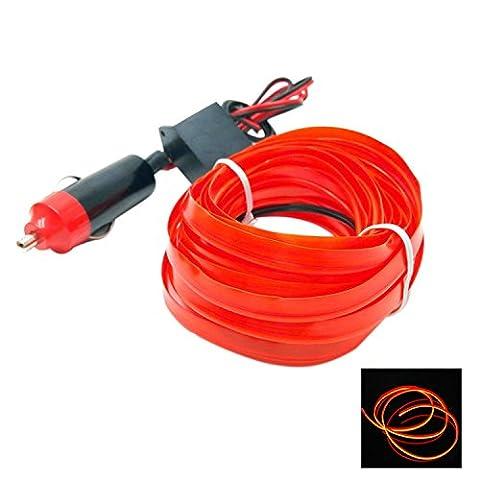 LDE LIGHT Flexible Neonlicht EL Draht Seil Tube Auto 12V Auto dekorative Led Gewinde Aufkleber Indoor Decals Tags Urlaub Zubehör (1PCS) ( Color : Red )