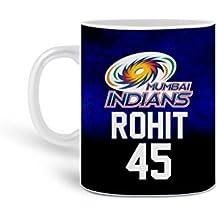 Mumbai Indians Rohit 45 Customized Ceramic Coffee Mug