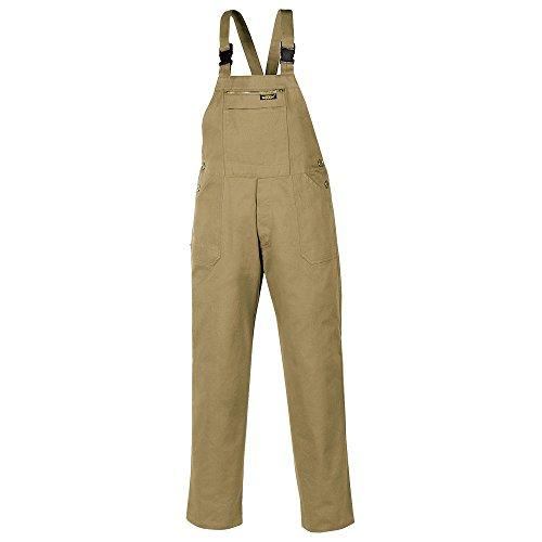 teXXor–Pantaloni da lavoro salopette Basic per industria e artigianato, 56, colore: cachi/Beige, 8030