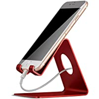 Phone Stand, Lamicall Phone Dock : Universal Stand, Cradle, Holder, Dock Compatible with Phone Xs Xs Max XR X 8 7 6S Plus 5S 4S, Nintendo Switch, HUAWEI, Samsung S7 S8, other Smart Phones - Red