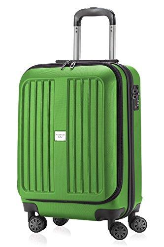 Capitale Valise série xberg Vert pomme avec combinaison TSA Mat 42 L + Coffret Pendentif (Jaune)