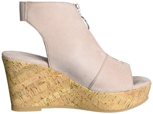 Shoe Biz Wedge, Sandali con Zeppa Donna Beige (Suede Nude)
