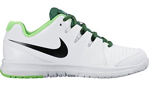 Nike Vapor Court (Gs), Chaussures de Tennis Garçon Blanc / noir / vert (blanc / noir - vert électrique)