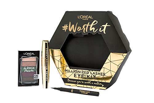 L'Oreal Paris Mascara, Eyeshadow and Eyeliner Make Up Gift Set For Her