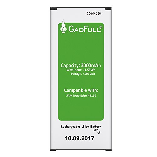 GadFull Batería para Samsung Galaxy Note Edge | Fecha de fabricación del 2017 | Corresponde al Original EB-BN915BBE | EB-BN915BBC | Modelo de Smartphone SM-N915F | SM-N915FY