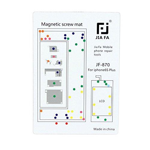 DELANSHI Magnetschrauben Matte Für iPhone 6s Plus Handy-Wartungstool Reparaturwerkzeuge - 4 Iphone Schraube Mat