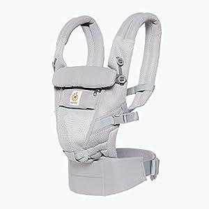 Ergo Baby Ergobaby Original Adapt Cool Air Mesh Baby Carrier Pearl Grey   7