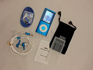 """TechNiched 8GB Super Slim 5th Gen MP3 MP4 Player with 2.2"""" LCD, Camera, FM Radio, Shake, Gravity Sensor, Touch Wheel & 30 Pin iPod Connector Interface - 1YR WARRANTY (Cheerful Cyan)"""