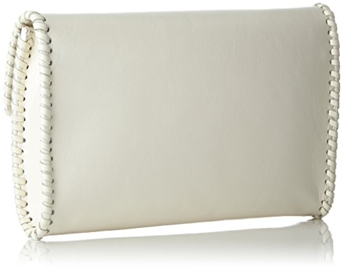 kaviar gauche - Braided Envelope Clutch w. strap, Borsa a tracolla Donna Bianco (Weiß (ivory/silver))