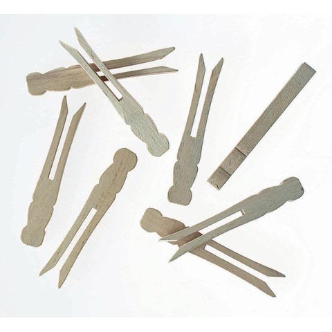 20 Wooden No Roll Dolly Pegs | Peg Doll Crafts