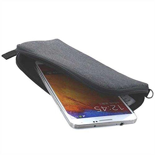 Softcase für Cyrus CS 40 Handytasche Wallet Slim Etui Hülle grau