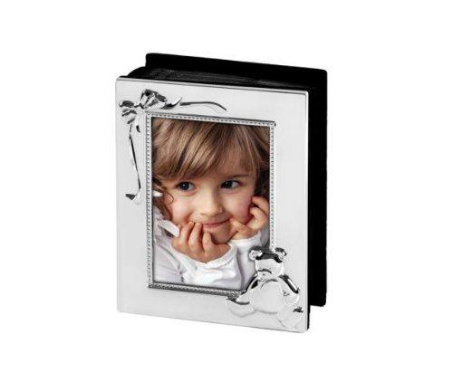 nderfotoalbum/Fotoalbum für 10x15 cm-Fotos, versilbert und anlaufgeschützt, mit Bärchen Verzierung ()