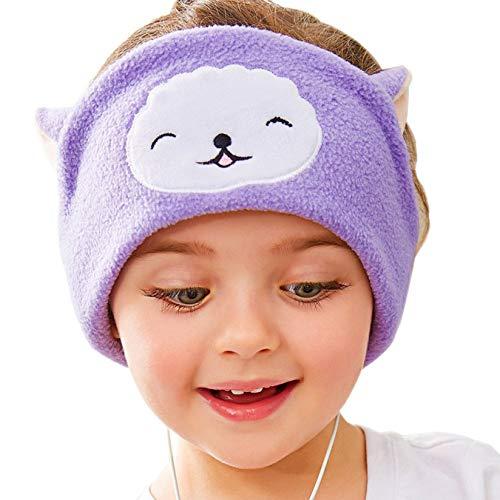 GGhaohong zuverlässiges 1x Telefone Kinder Kopfhörer Schlafmaske Ohrhörer Schlafband Nette Tiere(None Picture Color)