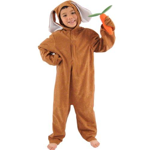 Kostüm Charlie Halloween Brown (Brauner Hase / Braunes Kaninchen für Kinder 4-6)