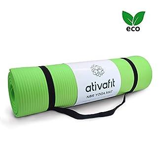 ATIVAFIT Estera de Yoga TPE Premium, Espesor de 10 mm, 183 x 61 x 1cm Esterilla Pilates, para Ejercicios en el Suelo, Gimnasia, Camping, Estiramientos, Abdómenes, Pilates