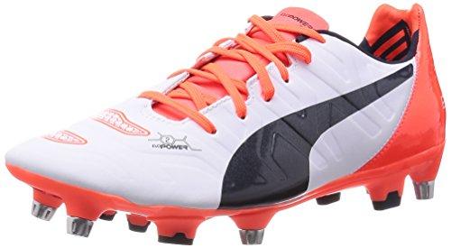 Puma Evopower 2.2 Mixed Sg, Chaussures de Formation de Football Homme Blanc (Weiß (Blanc-total eclipse-lava blast 04))
