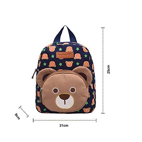 Imagen de dafenq lindo guardería infantil  cartoon conejo guardería primaria dibujos bolsa escuela kinderrucksack para bebé niño niña azul  alternativa