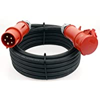 CEE 16A 5 pol Verlängerungskabel-H07BQ-F  5X1,5 mm² Starkstromkabel-PUR Kabel