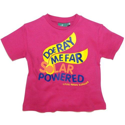 Little Green Radicals T-shirt en coton bio issu du commerce équitable, Doe Ray Me Far à énergie solaire (Fuchsia) Parent ASIN 3-4 ans