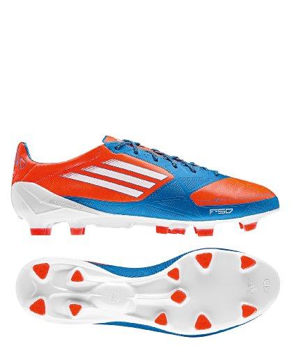 adidas F50 Adizero Trx Fg Syn, Chaussures de football mixte adulte Bleu, rouge et blanc