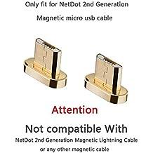 Add On Connector para NetDot 2nd Generation Magnetic Micro usb Cable, compatible con la mayoría de los teléfonos Android, excepto Samsung Glaxy s7 / s7 Edge (2 conectores de paquete / sin cable)