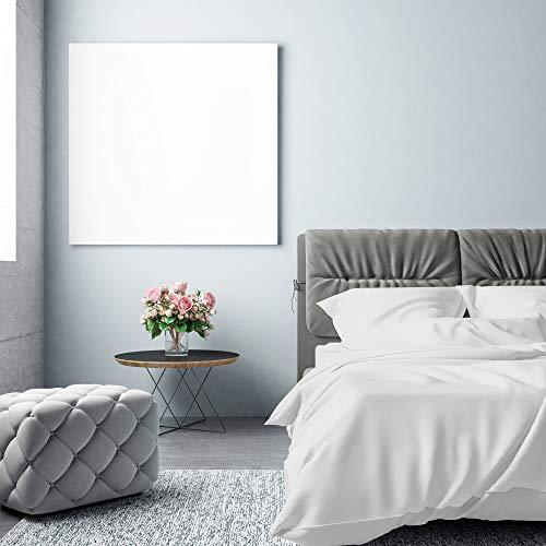 Pinguin Home Fadenzahl 500100% Größe Spannbetttuch, 200x 180cm, Baumwolle, weiß, Betten (Baumwolle Bunte Blatt König)