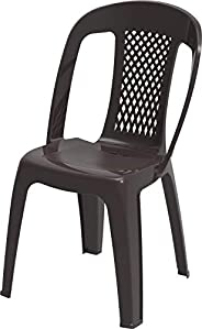 Cosmoplast IFOFXX005DW Plastic 2.2 Kg Regal Chair for Indoors and Outdoors, Dark Brown, 85 x 54 x 46 cm