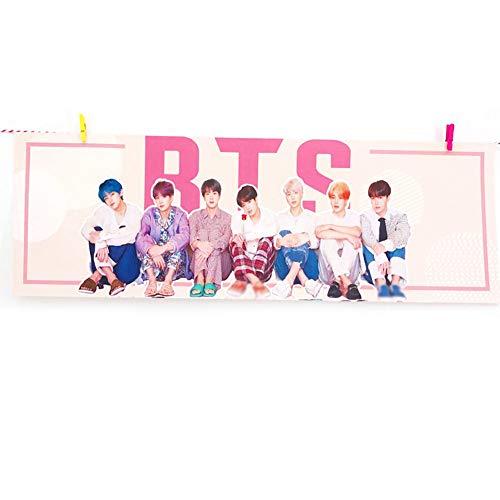 ALTcompluser Kpop BTS wasserdichte Banner, Bangtan Boys Jin J-Hope Jimin Jungkook V Suga RM Vliesstoff Fans Support Banner für Party / Konzert / Sammlung( BTS) Jacken Fan