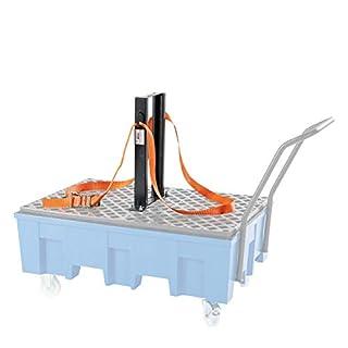 Fasshaltegurt/Spanngurt-Vorrichtung, für fahrbare 2-Fass-Wanne Höhe 600 mm -