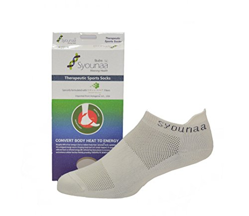 Syounaa Women's Celliant Therapeutic Low Cut Trainer Style Sports Socks, Free Size (Beige)