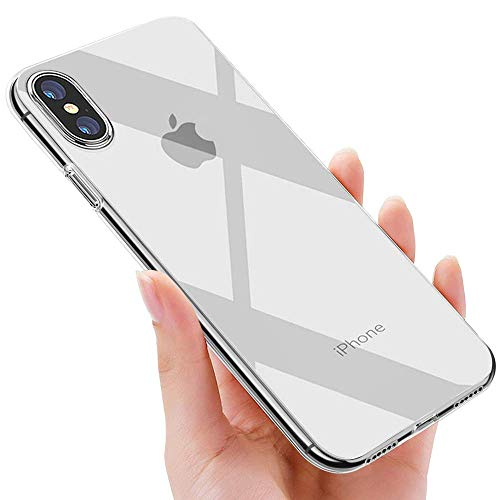 phixilin iPhone XS Max Hülle Crystal iPhone XS Max Handyhülle Silikon Ultra Dünn TPU Bumper Schutzhülle Stoßfest Anti-Scratch Soft Hülle für iPhone XS Max Case Cover - Transparent