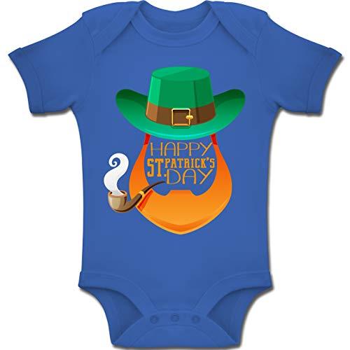 Anlässe Baby - Leprechaun Happy St. Patrick's Day - 1-3 Monate - Royalblau - BZ10 - Baby Body Kurzarm Jungen Mädchen (Oma Kostüme Irland)