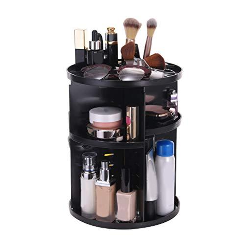 Beauté Multifonctionnel en plastique à 360 degrés Bijoux Rotating Porte-brosses à maquillage Organisateur Boîte de rangement