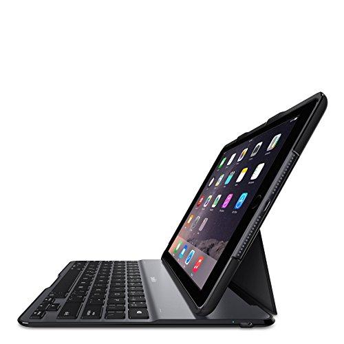 Belkin Schutzhülle F5L190edBLK/Tastatur für iPad Air 2, Schwarz (Französisch Tastatur ) (Belkin Ipad 2 Case Tastatur)