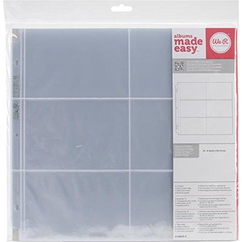 WE R Memory Keepers 30,5x 30,5cm (6–10,2x 15,2cm Taschen) Buchschraubenalbum Album Foto Sleeve Protektoren, 10PK Refill Foto-album-seiten 8x10