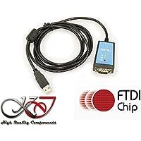 KALEA-INFORMATIQUE © - Convertisseur USB vers RS232 CHIPSET FTDI FT232 - CORDON 1.8M - PROTECTION MAGNETIQUE ANTIPARASITE