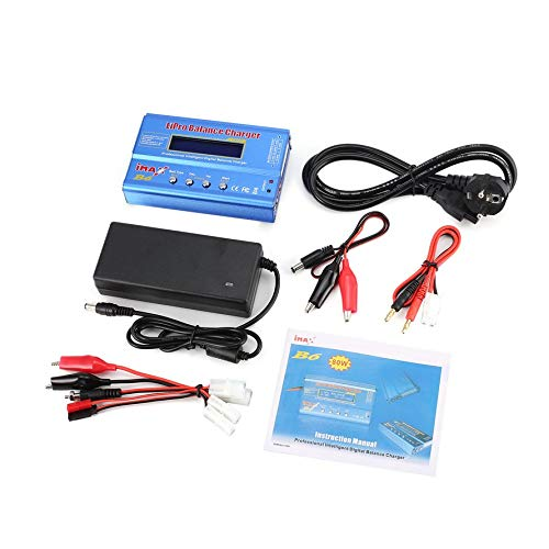 CHANNIKO-DE iMAX B6 80W 6A Lipo NiMh Li-ion NI-Cd RC Balance Charger 10W 2A Discharger with 15V/6A AC/DC Adapter for RC Model Battery