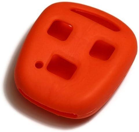 dantegts Orange Housse étui en silicone clé fob Télécommande Smart Pochettes Protection Clé chaîne Compatible avec: Lexus SC40098–00