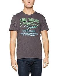 TOM TAILOR Herren T-Shirt Tee with Contrast Details