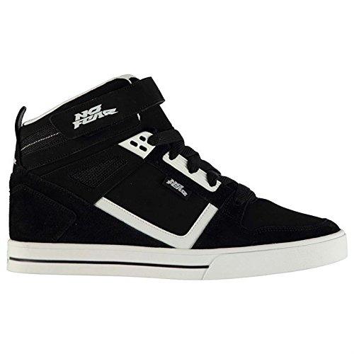 No Fear Uomo Elevate Scarpe Da Pattinaggio Skate Alte Stringate Tessuto Velcro Black/White
