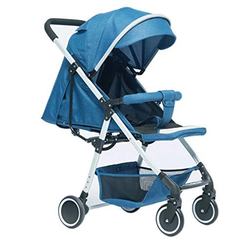 Carritos y sillas de Paseo Cochecito de bebé Ligero Cochecito de bebé portátil Paraguas Plegable Ultra Ligero Puede Sentarse Reclinable Bebé Sillas de Paseo