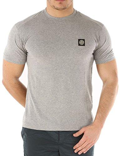 Stone Island - Herren-T-Shirt mit kurzen Ärmeln mit Patch auf der Front Stone Island - L, Grau