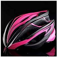 Flowerrs Casco Scooter Casco de Montar a Caballo de una Pieza Ajustable Casco de Montar a Caballo de múltiples Agujeros de ventilación Grande (Negro + Rosa) Skate Helmet