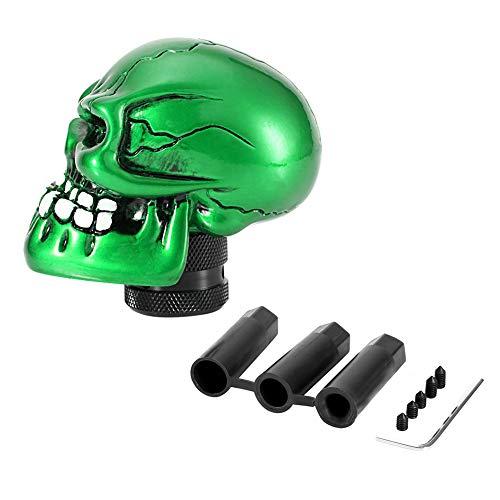 Schaltknauf Hebel, Skeleton Skull Head Car Modifizierte Schaltknauf Stick Lever Shifter Universal (Green)